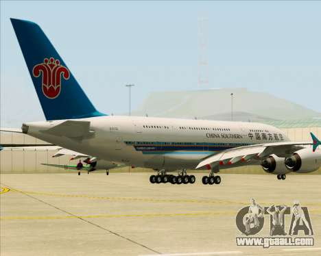 Airbus A380-841 China Southern Airlines for GTA San Andreas back left view
