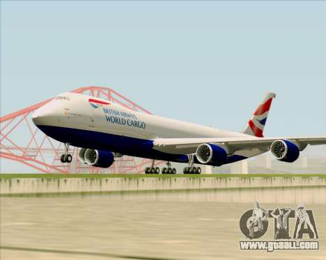 Boeing 747-8 Cargo British Airways World Cargo for GTA San Andreas left view