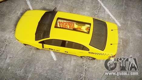GTA V Vapid Taurus Taxi LCC for GTA 4 right view