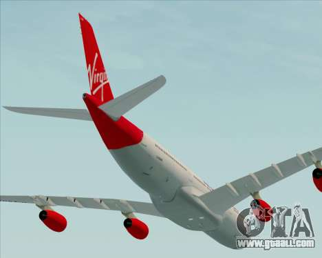 Airbus A340-313 Virgin Atlantic Airways for GTA San Andreas side view