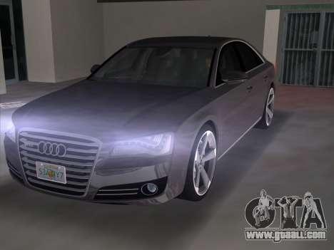 Audi A8 2010 W12 Rim3 for GTA Vice City back left view