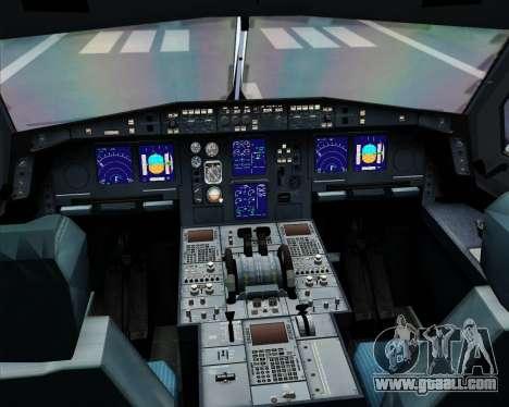 Airbus A330-300 Dragonair (20th Year Livery) for GTA San Andreas interior