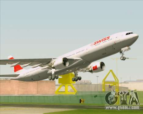 Airbus A330-300 Swiss International Air Lines for GTA San Andreas bottom view