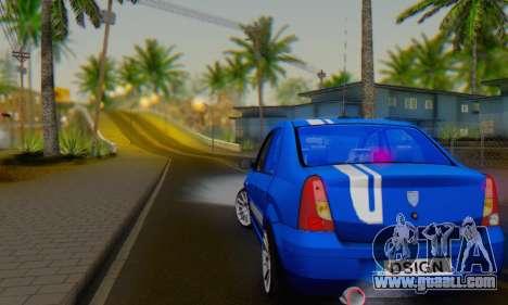 Dacia Logan Tuning Rally (B 48 CUP) for GTA San Andreas right view