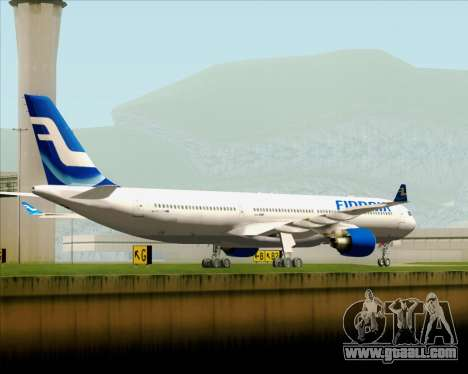 Airbus A330-300 Finnair (Old Livery) for GTA San Andreas back left view