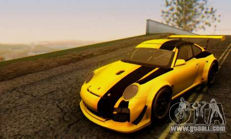 Porsche 911 GT3 R 2009 Black Yellow for GTA San Andreas left view