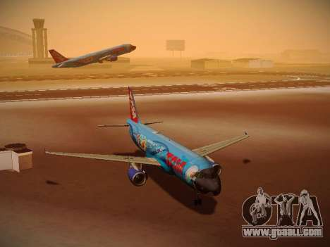 Airbus A320-214 TAM Airlines RIO for GTA San Andreas left view