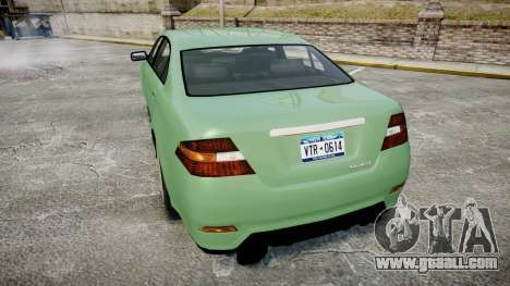 GTA V Vapid Taurus for GTA 4 back left view