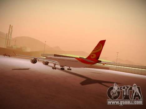 Airbus A340-600 Hainan Airlines for GTA San Andreas inner view