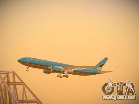 Airbus A330-200 Vietnam Airlines for GTA San Andreas inner view