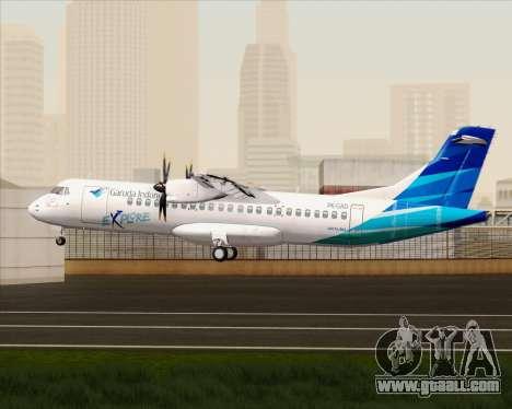 ATR 72-500 Garuda Indonesia Explore for GTA San Andreas right view