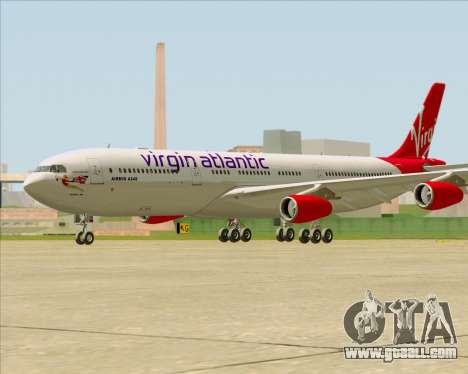 Airbus A340-313 Virgin Atlantic Airways for GTA San Andreas right view