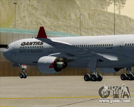 Airbus A330-300 Qantas for GTA San Andreas wheels