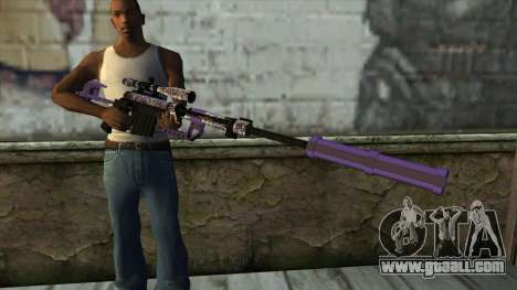 PurpleX Sniper Rifle for GTA San Andreas third screenshot