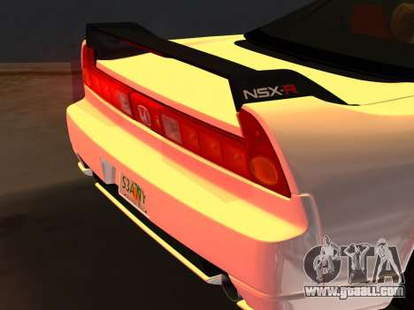 Honda NSX-R for GTA Vice City bottom view