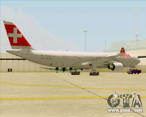 Airbus A330-300 Swiss International Air Lines for GTA San Andreas back left view