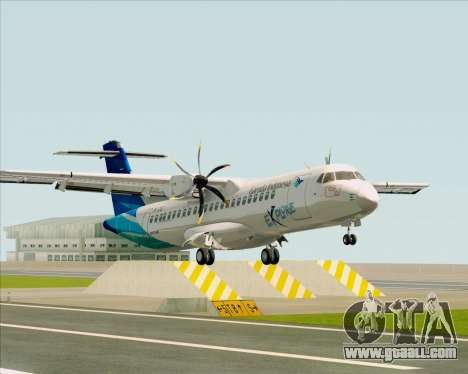 ATR 72-500 Garuda Indonesia Explore for GTA San Andreas left view