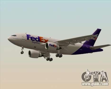Airbus A310-300 Federal Express for GTA San Andreas wheels