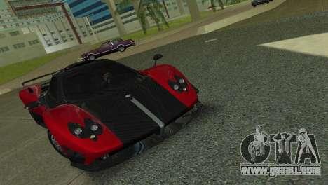 Pagani Zonda Cinque for GTA Vice City back left view
