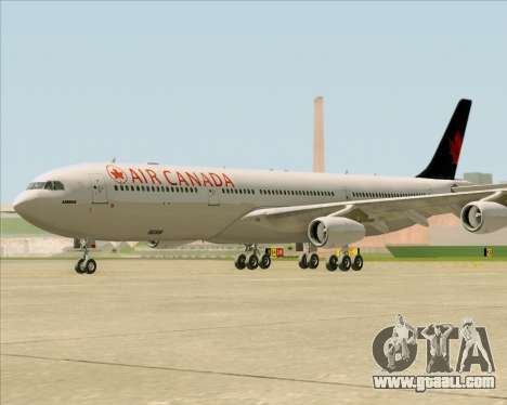 Airbus A340-313 Air Canada for GTA San Andreas left view