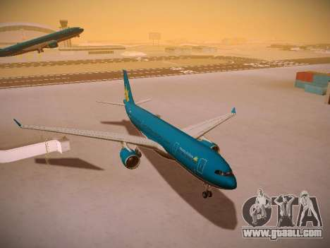 Airbus A330-200 Vietnam Airlines for GTA San Andreas side view