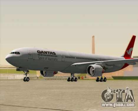 Airbus A330-300 Qantas for GTA San Andreas left view