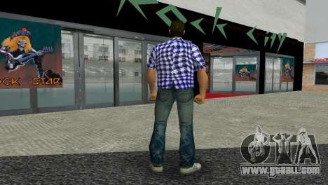 Kockas polo - sotetkek T-Shirt for GTA Vice City third screenshot