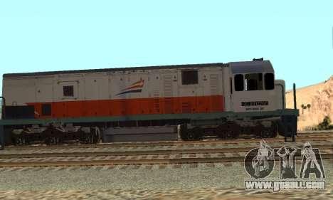 GE U18C CC 201 Indonesian Locomotive for GTA San Andreas left view