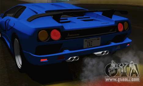 Lamborghini Diablo SV 1995 (ImVehFT) for GTA San Andreas upper view