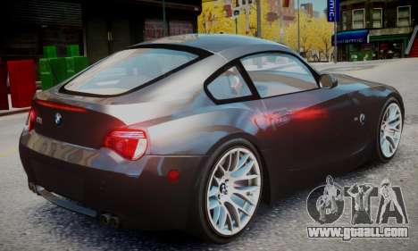 BMW Z4M for GTA 4 left view