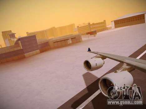 Airbus A340-600 Singapore Airlines for GTA San Andreas engine