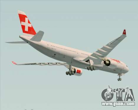 Airbus A330-300 Swiss International Air Lines for GTA San Andreas side view