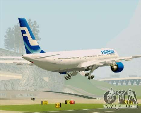 Airbus A330-300 Finnair (Old Livery) for GTA San Andreas interior