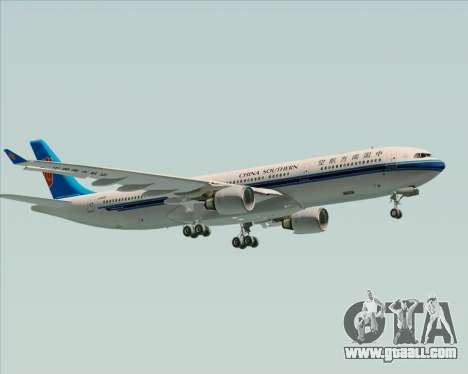 Airbus A330-300 China Southern Airlines for GTA San Andreas upper view