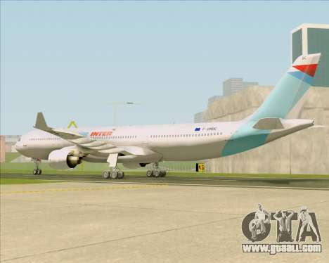 Airbus A330-300 Air Inter for GTA San Andreas back left view