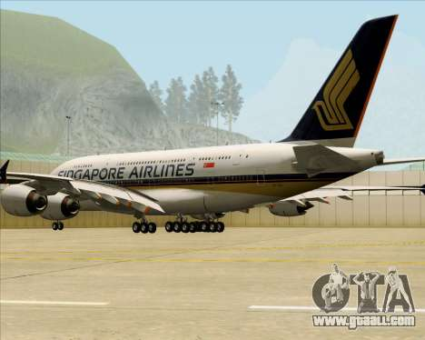 Airbus A380-841 Singapore Airlines for GTA San Andreas right view