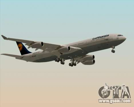 Airbus A340-313 Lufthansa for GTA San Andreas inner view