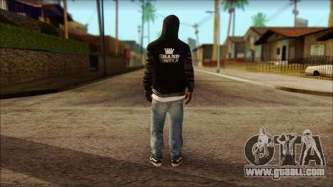 New Grove Street Family Skin v6 for GTA San Andreas second screenshot