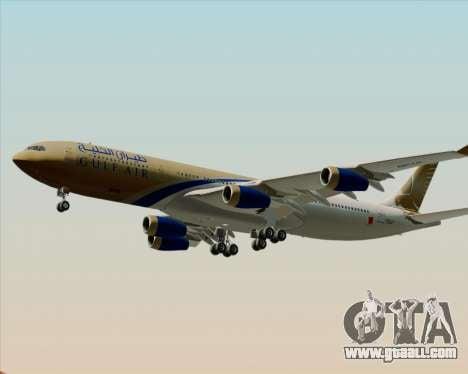 Airbus A340-313 Gulf Air for GTA San Andreas engine