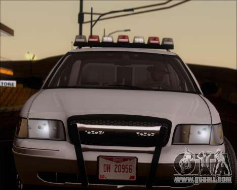 Ford Crown Victoria Tallmadge Battalion Chief 2 for GTA San Andreas back view