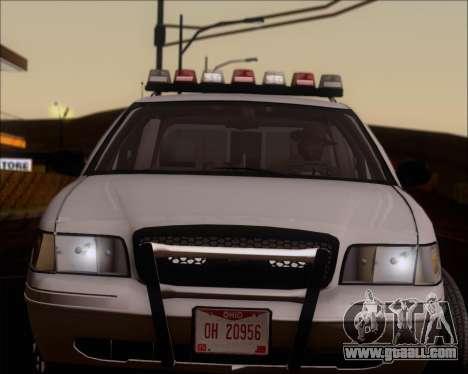 Ford Crown Victoria Tallmadge Battalion Chief 2 for GTA San Andreas back view