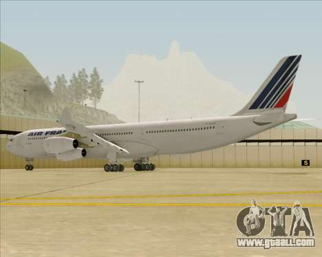 Airbus A340-313 Air France (Old Livery) for GTA San Andreas back left view