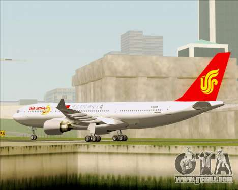 Airbus A330-200 Air China for GTA San Andreas right view