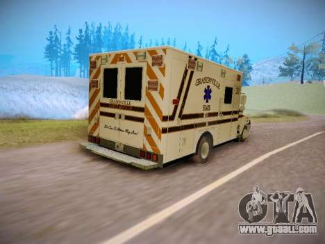 Pierce Commercial Grasonville Ambulance for GTA San Andreas back view