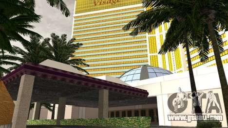 New textures casino Visage in Las Venturas for GTA San Andreas fifth screenshot