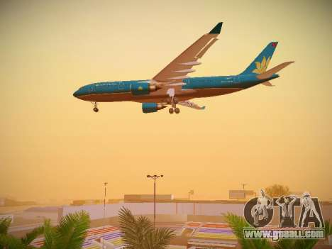 Airbus A330-200 Vietnam Airlines for GTA San Andreas upper view