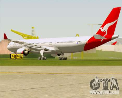 Airbus A330-300 Qantas for GTA San Andreas right view