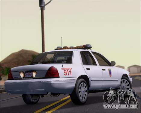 Ford Crown Victoria Tallmadge Battalion Chief 2 for GTA San Andreas right view