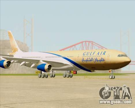 Airbus A340-313 Gulf Air for GTA San Andreas back left view
