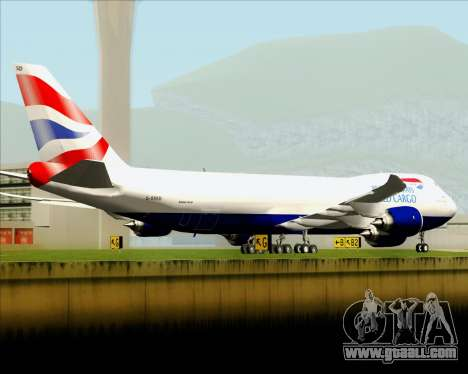 Boeing 747-8 Cargo British Airways World Cargo for GTA San Andreas engine